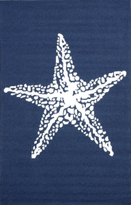 nuLOOM Hand Hooked Marine Indoor/Outdoor Navy Area Rug