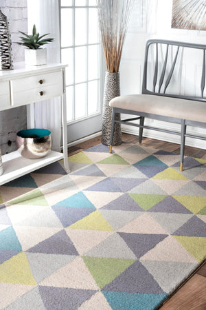 nuLOOM Hand Hooked Anderson Green Area Rug