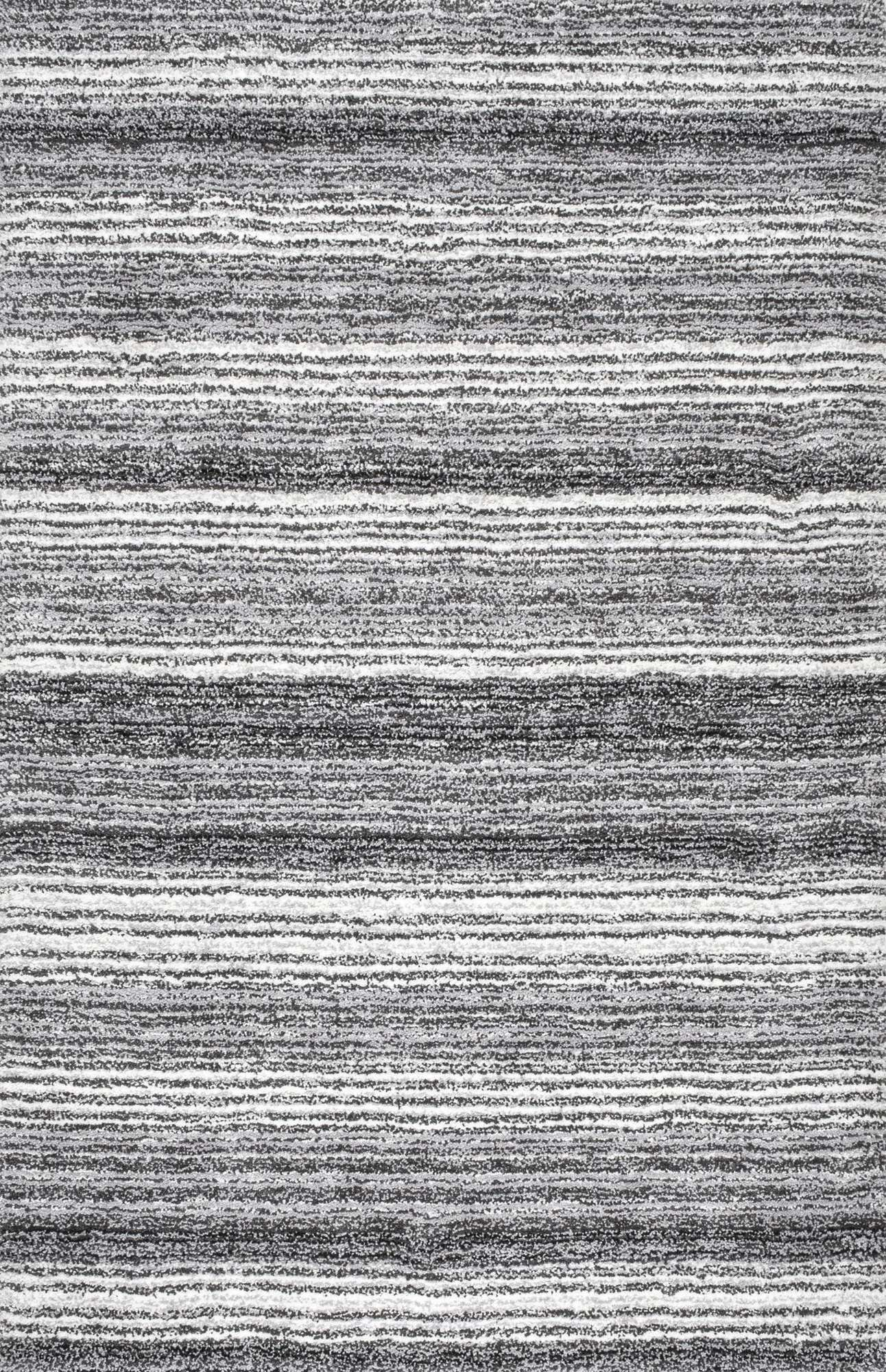 nuLOOM Grey Multi-colored Hand Tufted Classic Shag HJZOM1A Area Rug