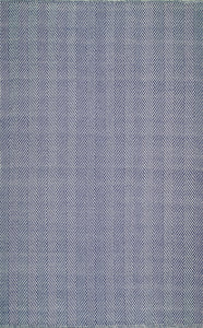 nuLOOM Hand Loomed Herringbone Cotton Navy Area Rug