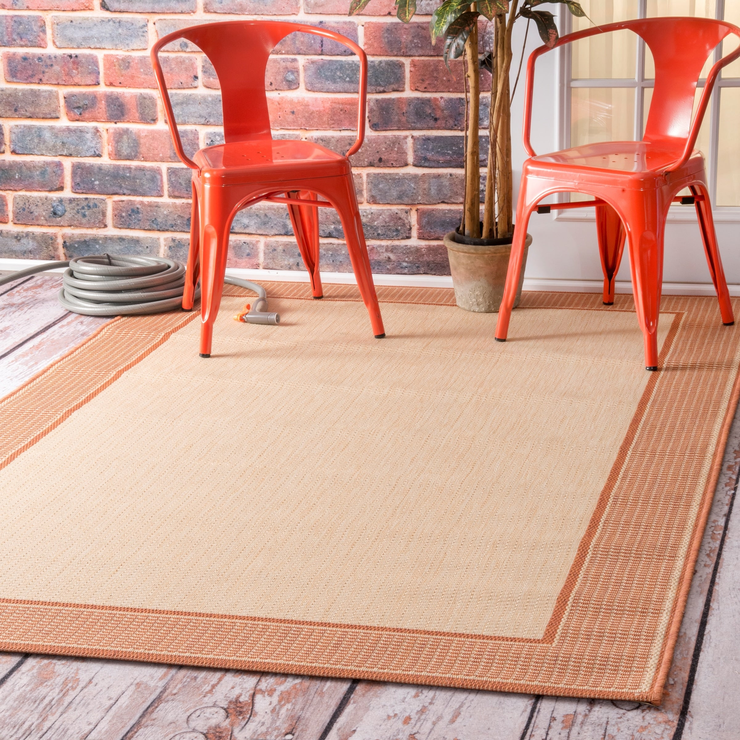 nuLOOM Machine Made Outdoor Gris OWDN05D Area Rug