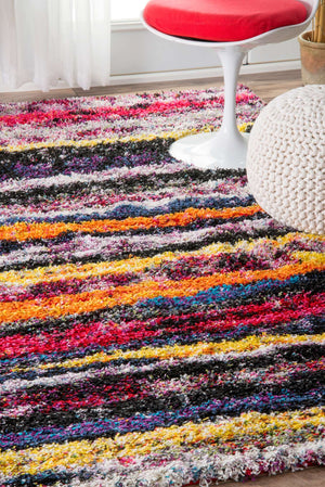 nuLOOM Fonda Striped Shaggy OZXL01A Area Rug