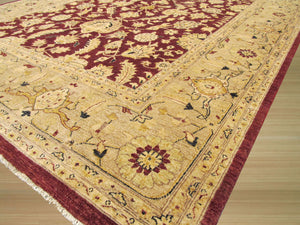 EORC Hand-knotted Wool Red Traditional Oriental Peshawar Rug
