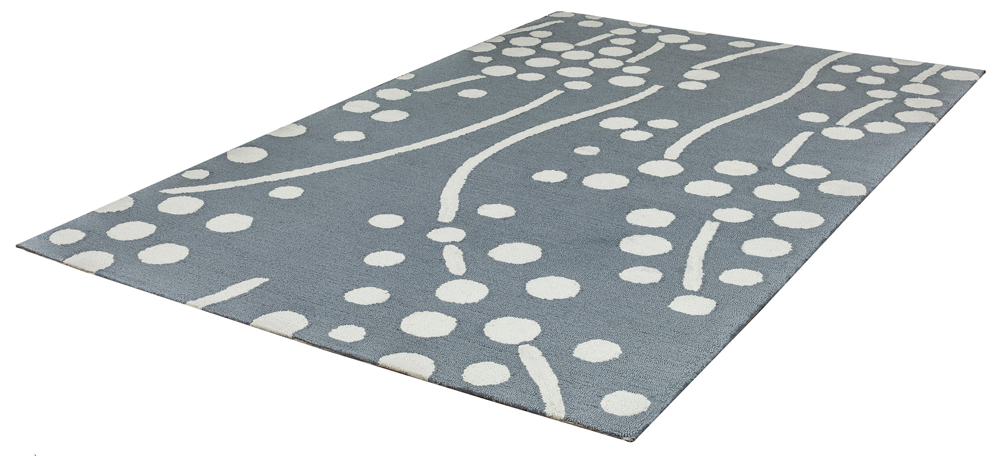 Rizzy Home Azzura Hill AH9936 Ivory Dots And Lines Area Rug