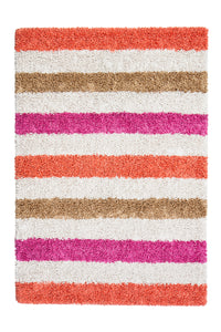 Anji Mountain Candy Stripe Silky Shag Area Rug