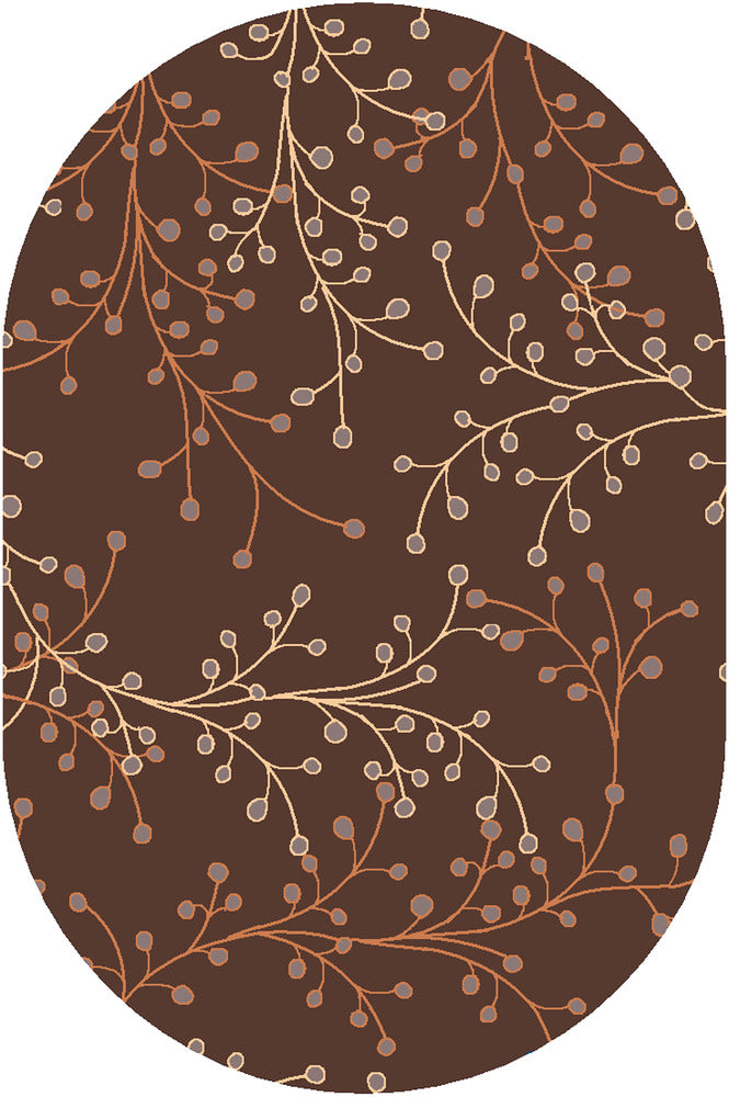 Surya Athena ATH5052 Brown/Red Transitional Area Rug