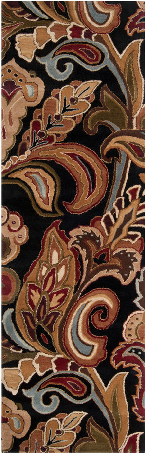 Surya Aurora AUR1002 Black/Brown Transitional Area Rug
