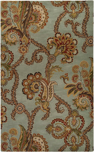Surya Aurora AUR1005 Green/Brown Transitional Area Rug