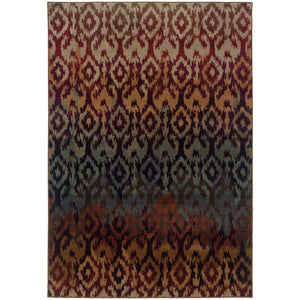 Oriental Weavers Adrienne Red/Multi Tribal 3809G Area Rug