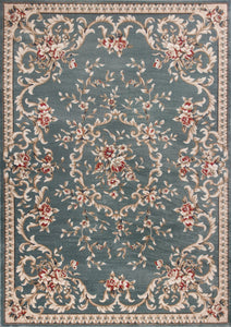 Kas Rugs Avalon 5602 Slate Blue Aubusson Area Rug