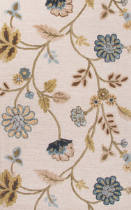 Jaipur Living Blue BL142 Blue Floral/Leaves Area Rug