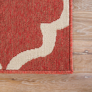 Jaipur Living Bloom BLO27 Red Trellis/Chain/Tiles Area Rug
