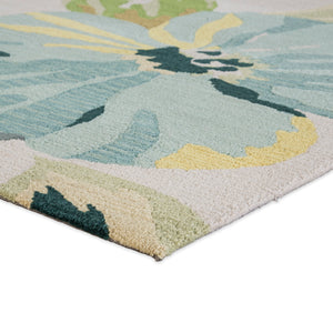 Jaipur Living Brio BR62 Blue Floral/Leaves Area Rug