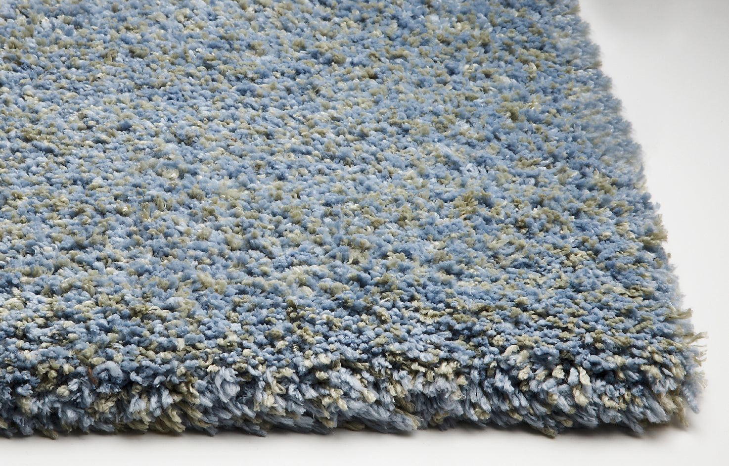 Kas Rugs Bliss 1582 Blue Heather Shag Area Rug