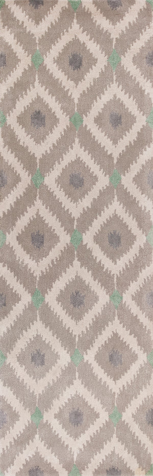 Kas Rugs Bob Mackie Home 1017 Silver/Grey Mirage Area Rug