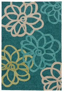 Jaipur Living Catalina CAT08 Blue Floral/Leaves Area Rug