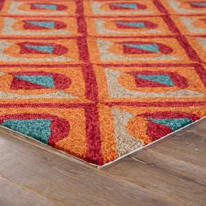Jaipur Living Catalina CAT47 Orange Geometric Area Rug