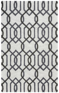 Rizzy Home Caterine CE9526 Gray Trellis Area Rug