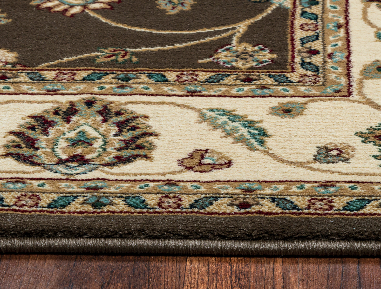 Rizzy Home Chateau CH4215 Brown Border Area Rug