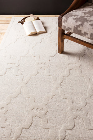 Surya Chandler CHA4000 Neutral Solids and Borders Area Rug