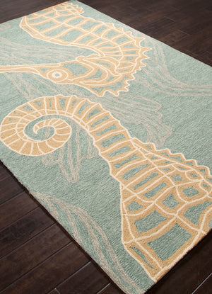 Jaipur Living Coastal Lagoon COL24 Blue Novelty Area Rug