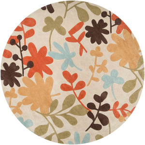 Surya Cosmopolitan COS8926 Neutral/Orange Transitional Area Rug