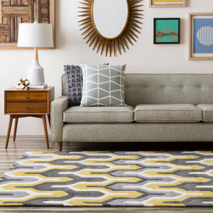 Surya Cosmopolitan COS9177 Green/Grey Geometric Area Rug