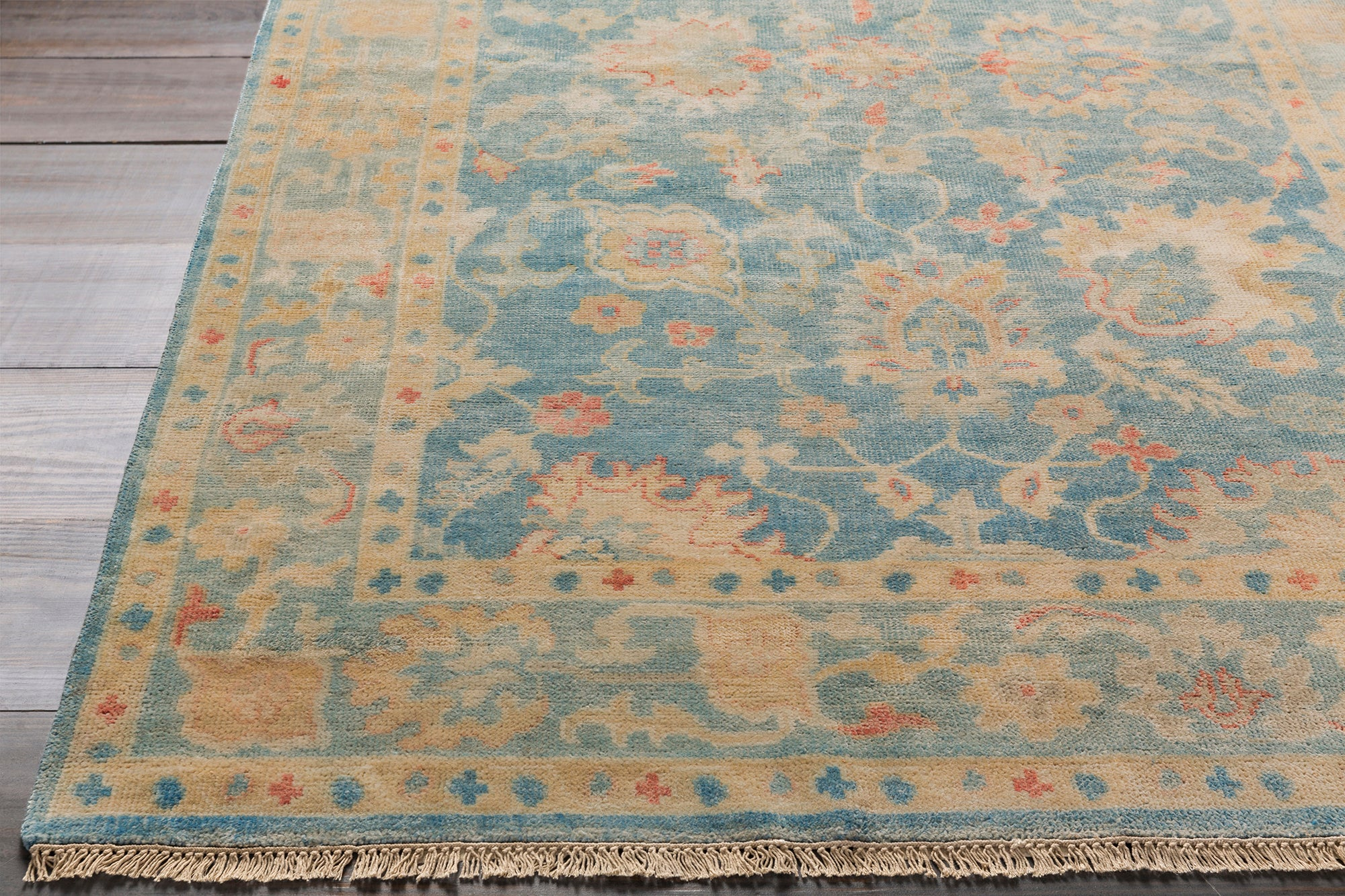 Surya Cheshire CSH6005 Blue/Neutral Traditional Area Rug