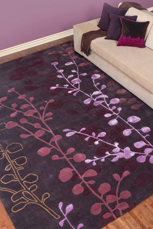 Surya Cosmo Ultra CSU1000 Red/Purple Contemporary Area Rug