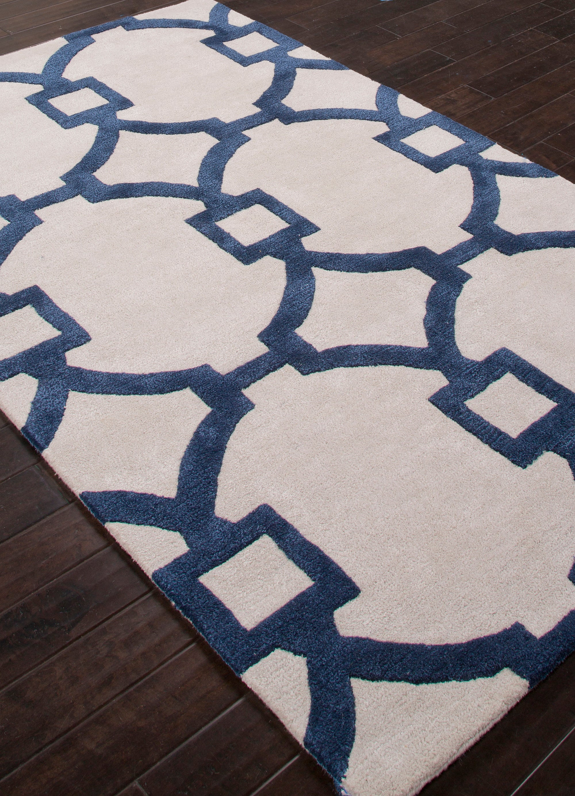 Jaipur Living City CT57 White Trellis/Chain/Tiles Area Rug