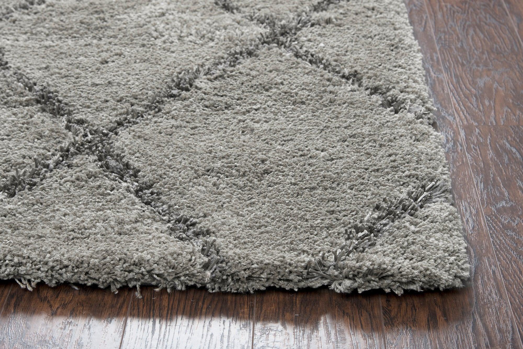 Rizzy Home Connex CX104A Taupe Trellis Area Rug
