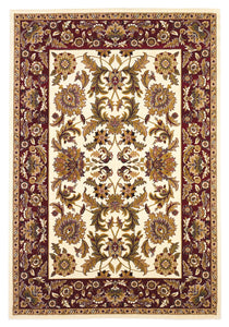 Kas Rugs Cambridge 7303 Ivory/Red Kashan Area Rug