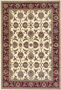 Kas Rugs Cambridge 7312 Ivory/Red Kashan Area Rug