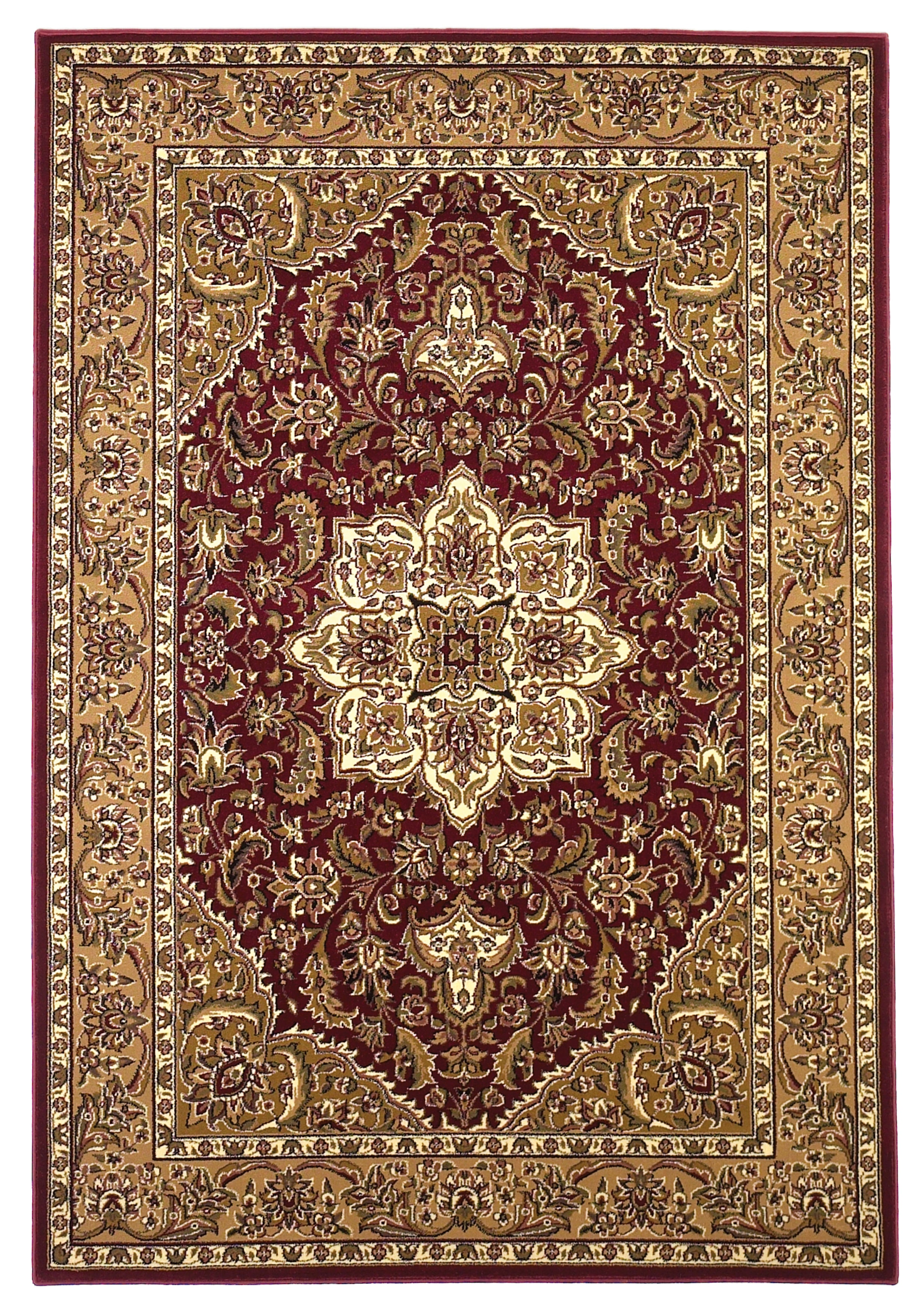 Kas Rugs Cambridge 7326 Red/Beige Kashan Medallion Area Rug