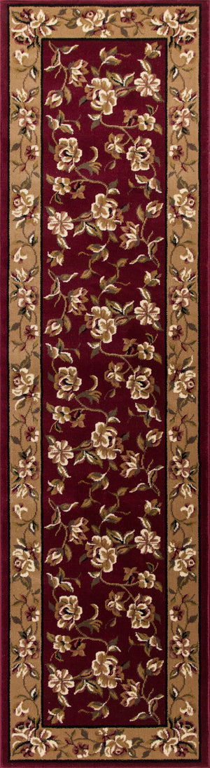 Kas Rugs Cambridge 7337 Red/Beige Floral Delight Area Rug