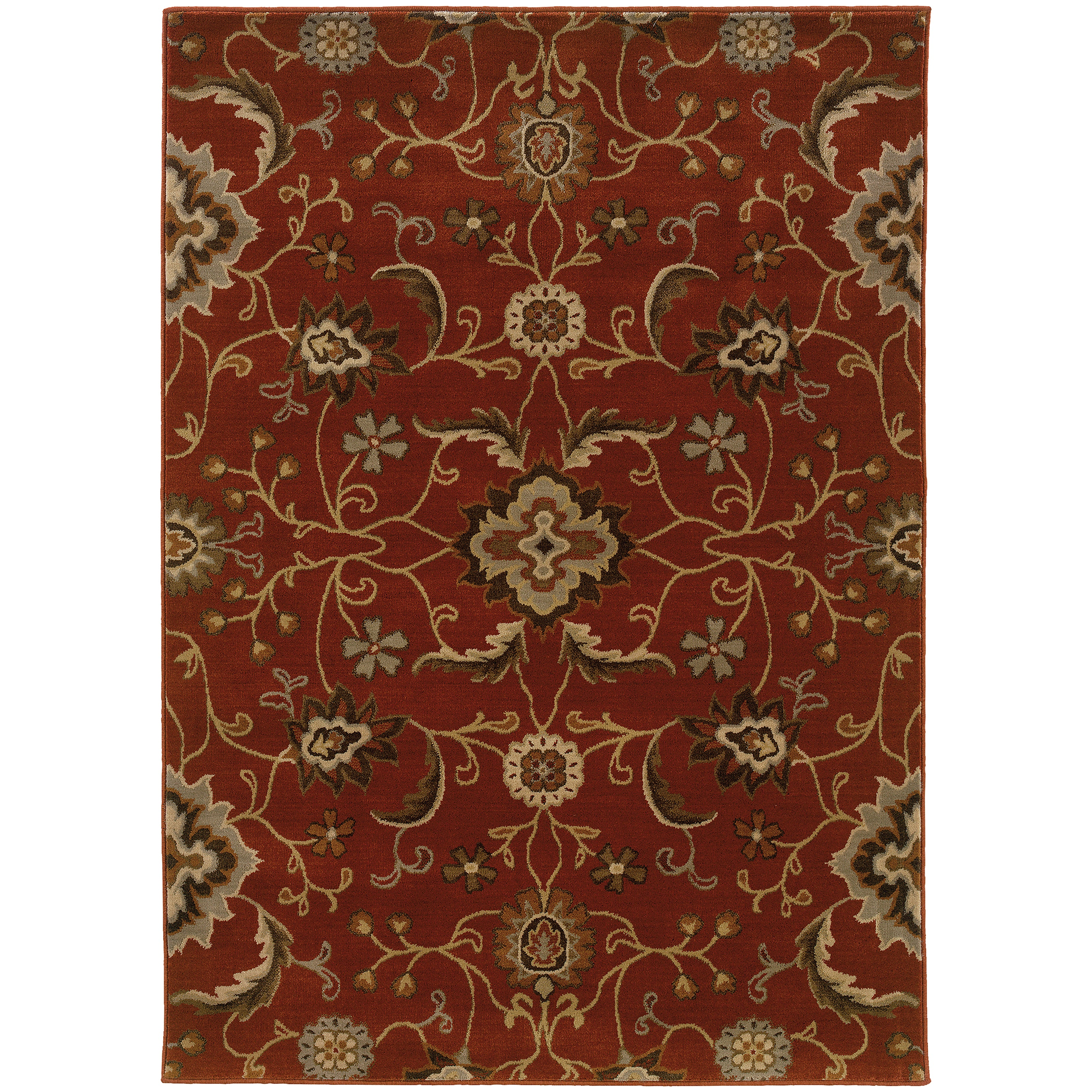 Oriental Weavers Casablanca Red/Multi Floral 4471B Area Rug
