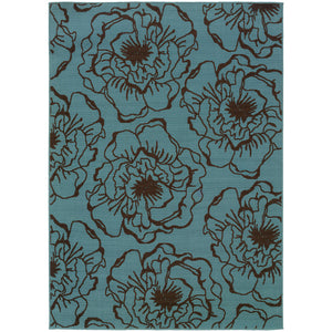Oriental Weavers Caspian Blue/Brown Floral 3065L Area Rug