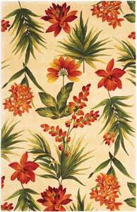 Kas Rugs Catalina 0780 Ivory Tropical Flora Area Rug