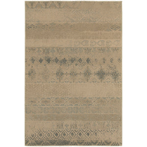 Oriental Weavers Chloe Tan/Blue Geometric 3691H Area Rug