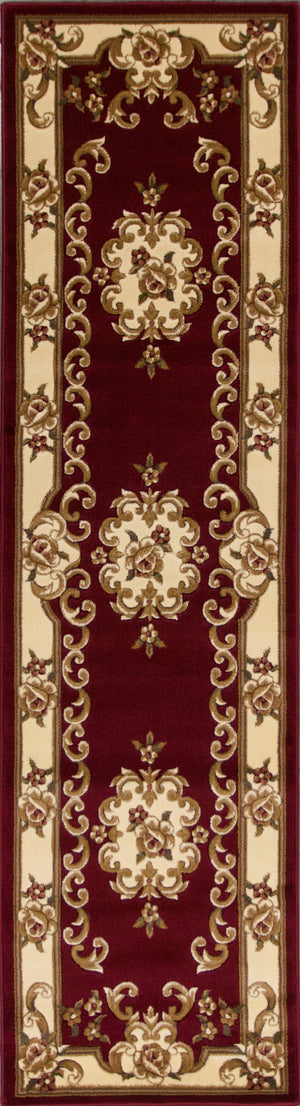 Kas Rugs Corinthian 5308 Red/Ivory Aubusson Area Rug
