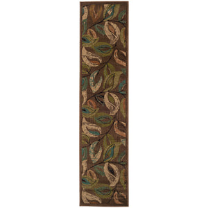 Oriental Weavers Emerson Brown/Green Botanical 1999A Area Rug