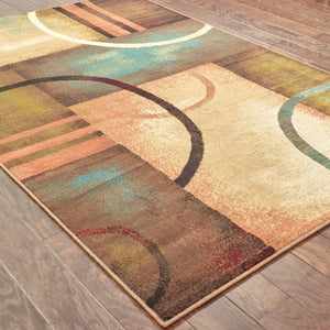 Oriental Weavers Emerson Brown/Gold Geometric 2231A Area Rug