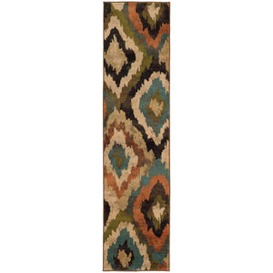 Oriental Weavers Emerson Blue/Brown Abstract 4875A Area Rug