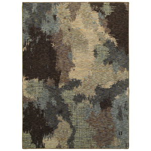 Oriental Weavers Evolution Blue/Brown Abstract 8011B Area Rug