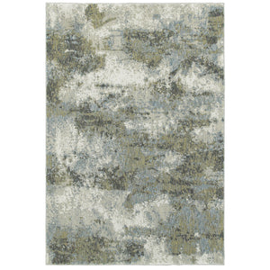 Oriental Weavers Evolution Blue/Green Abstract 8039E Area Rug