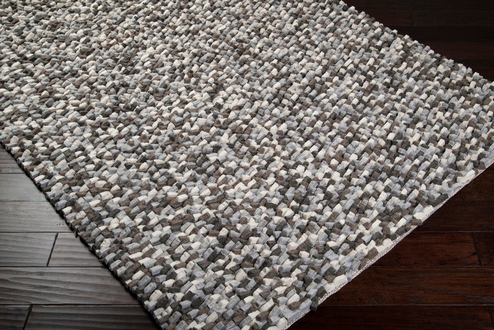Surya Flagstone FLG1000 Black/Gray Plush Area Rug