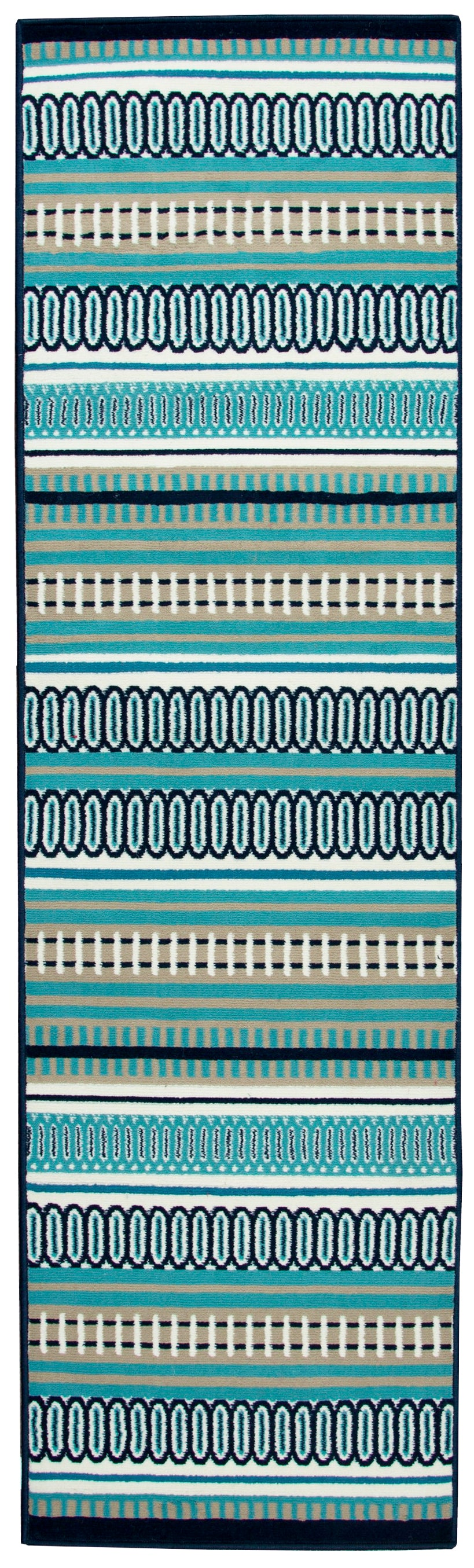 Rizzy Home Glendale GD7000 Multi-Colored Pattern/ Stripe Area Rug