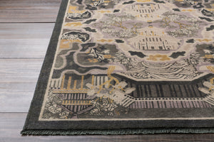 Surya Geisha GES1006 Black/Brown Modern Area Rug