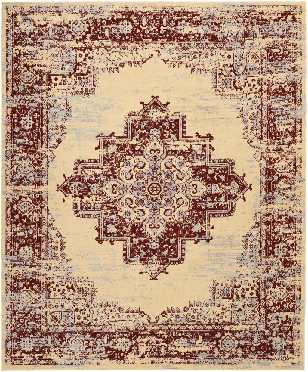 Nourison Grafix Cream Red Area Rug