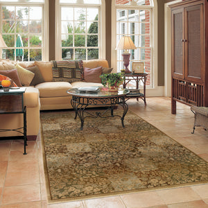 Oriental Weavers Generations Green/Gold Floral 3435Y Area Rug